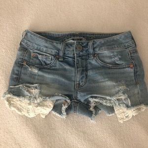 American eagle outfitters short stretch teen size2
